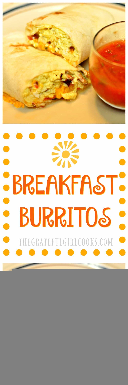Breakfast Burritos / The Grateful Girl Cooks!