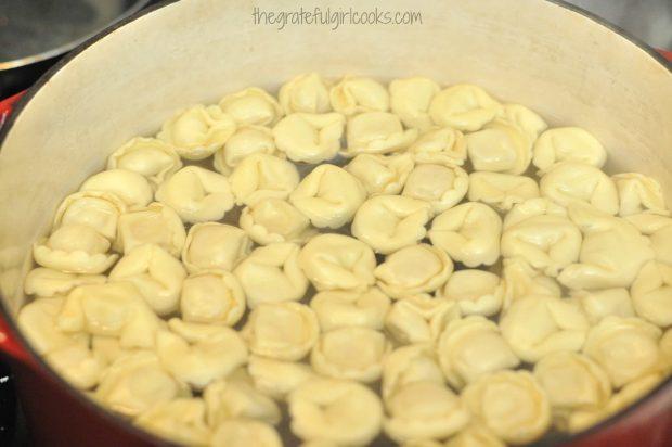 Cheese Tortellini in a Tomato-Spinach Cream Sauce / The Grateful Girl Cooks!