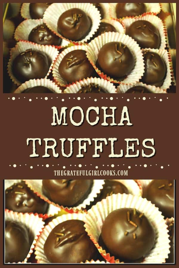 You'll love these easy to prepare mocha truffles, chocolate covered creamy treats that are perfect for eating or gift giving! Recipe makes 5 dozen!