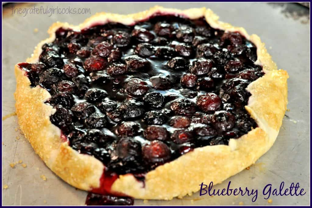 Blueberry Galette / The Grateful Girl Cooks!