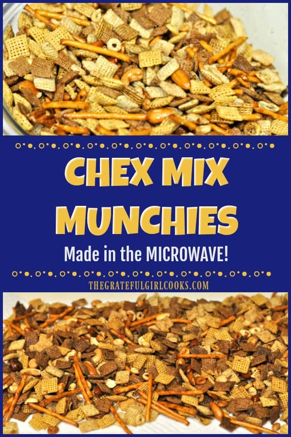 Chex Mix Munchies are a classic treat that has been updated to make in a microwave oven. Before you know it, you'll be enjoying this crunchy snack!