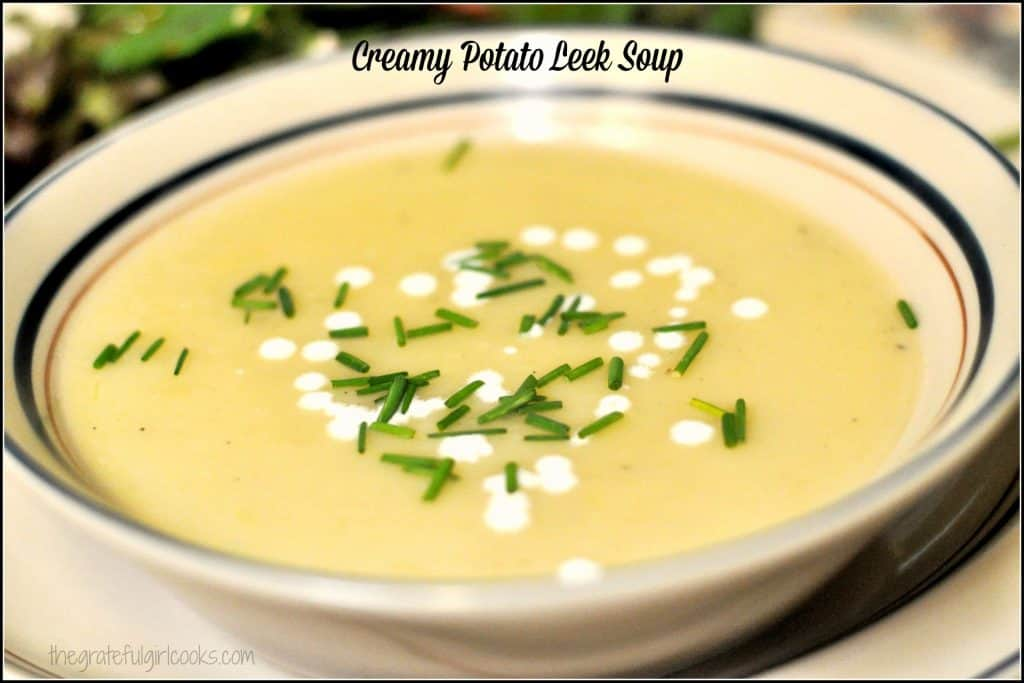 Creamy Potato-Leek Soup Recipe — Dishmaps