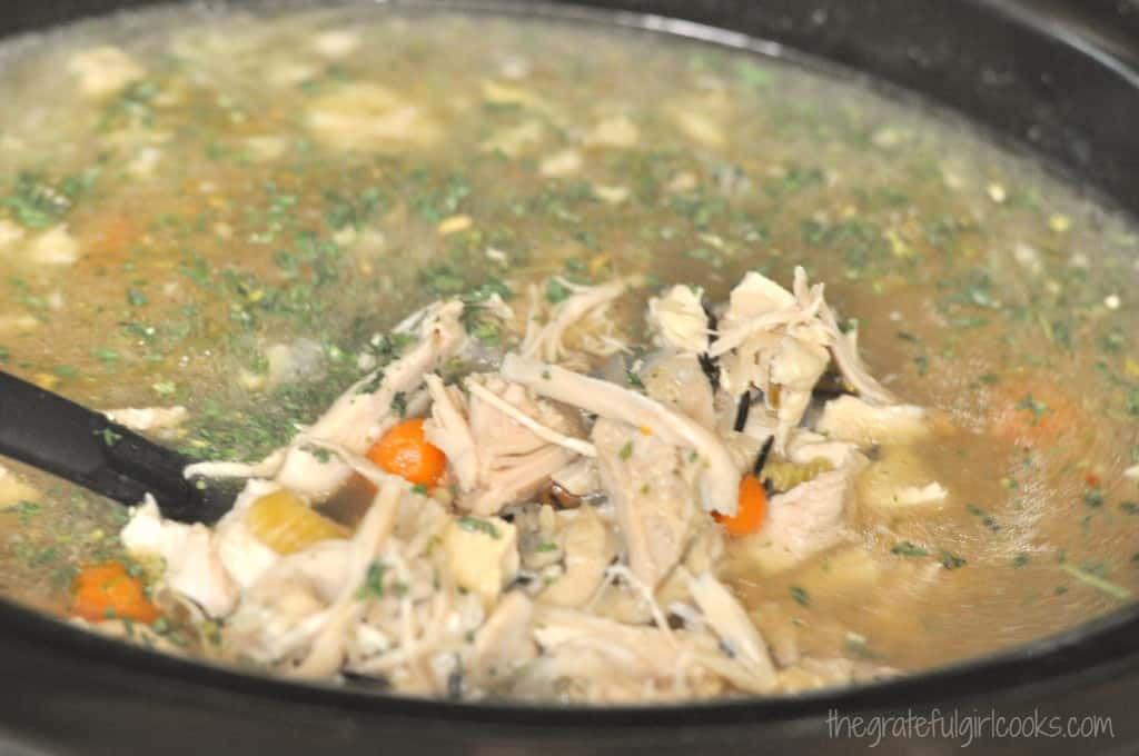 Creamy Turkey Wild Rice Soup / The Grateful Girl Cooks!