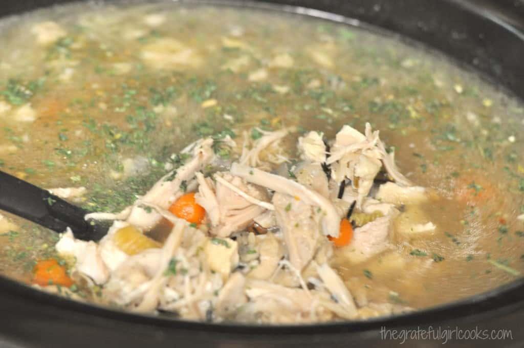 Creamy Turkey Wild Rice Soup / The Grateful Girl Cooks!