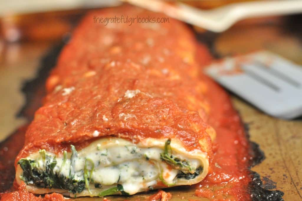Florentine Lasagne Roll / The Grateful Girl Cooks!