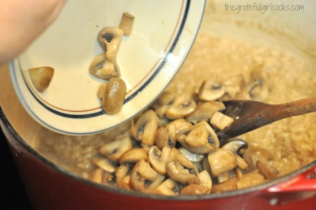 Mushroom Risotto with Pan-Seared Shrimp / The Grateful Girl Cooks!