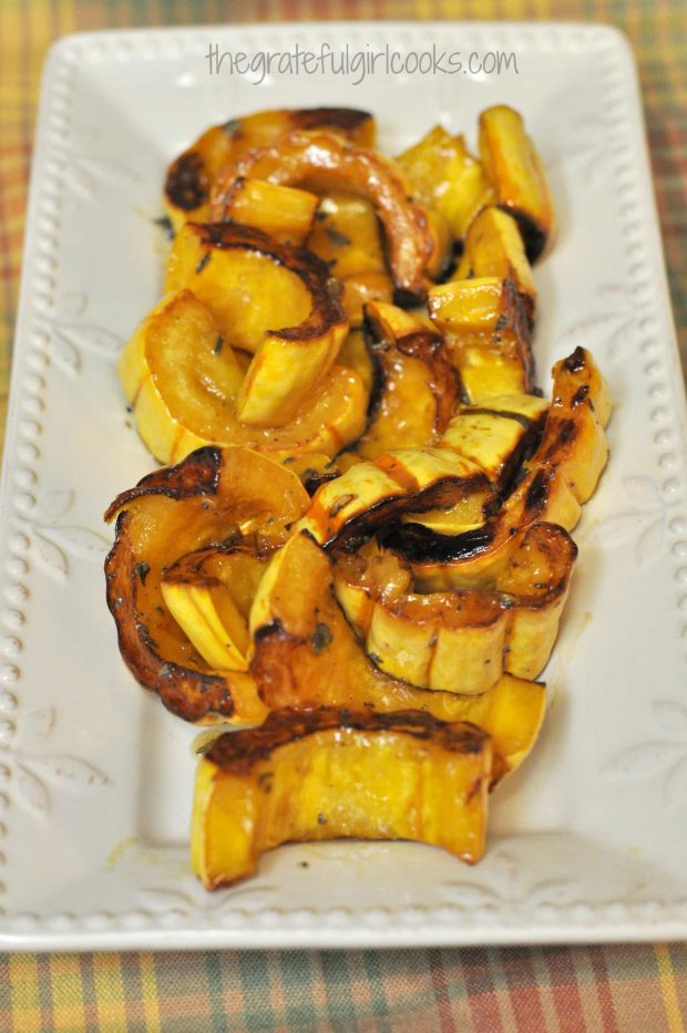 Roasted Delicata Squash with Maple and Sage / The Grateful Girl Cooks!
