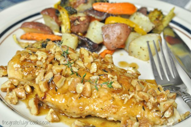 Chicken Cutlets With Pecan Sauce / The Grateful Girl Cooks!