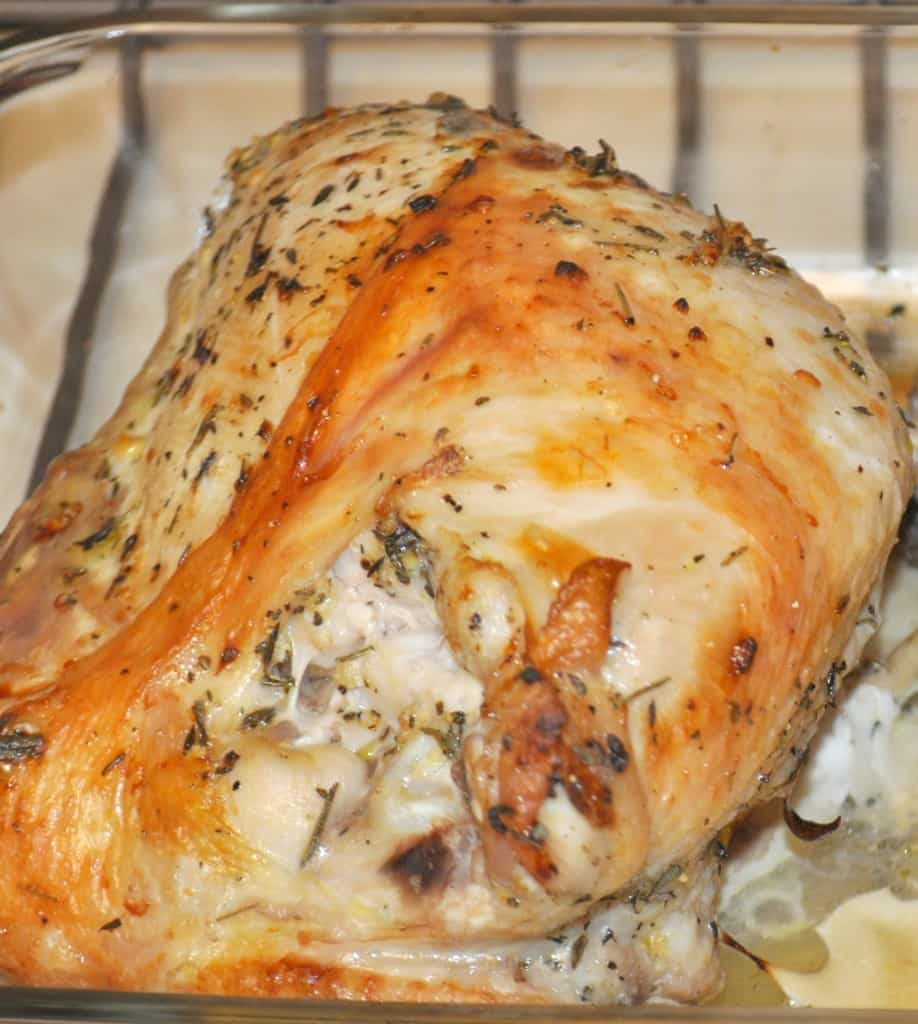 Roast Turkey Breast With Roasted Garlic Gravy Recipe ...