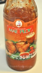 Mae Ploy sweet chili sauce was used in this recipe for sweet fire chicken.