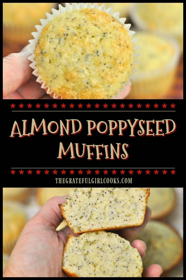 Almond Poppyseed Muffins are incredibly EASY to make, taste wonderful, and are a perfect breakfast treat or snack for those you love. Recipe makes 18!