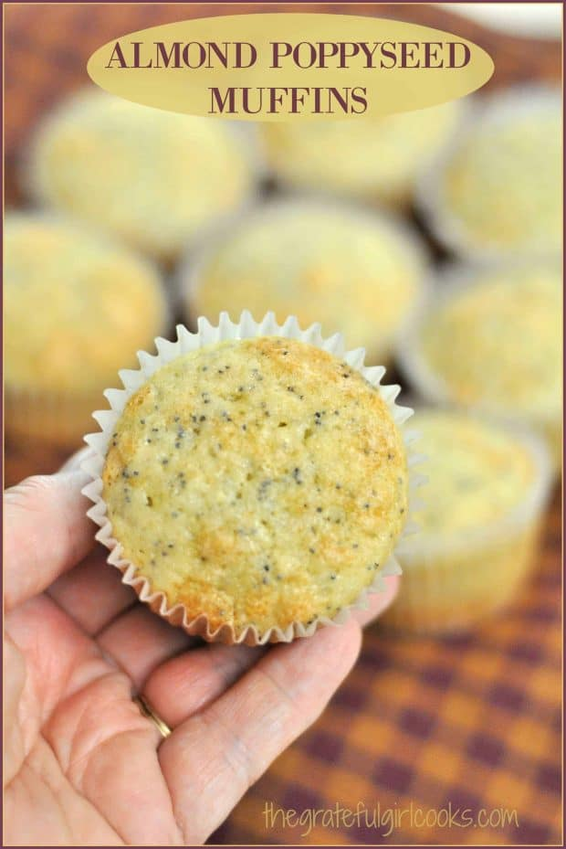 Almond Poppyseed Muffins are incredibly EASY to make, taste wonderful, and are a perfect breakfast treat or snack for those you love. Recipe makes 18.