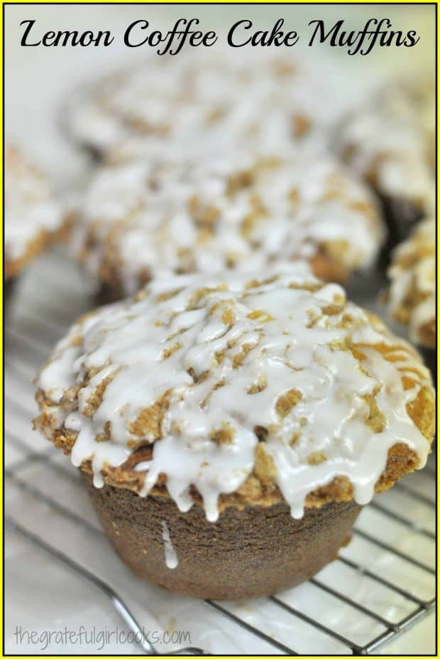 Lemon Coffee Cake Muffins / The Grateful Girl Cooks!