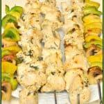 Lemon & Garlic Chicken Kabobs