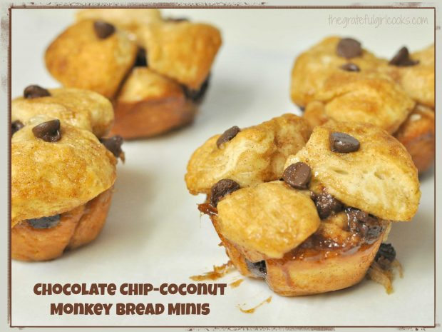 Chocolate Chip-Coconut Monkey Bread Minis / The Grateful Girl Cooks!
