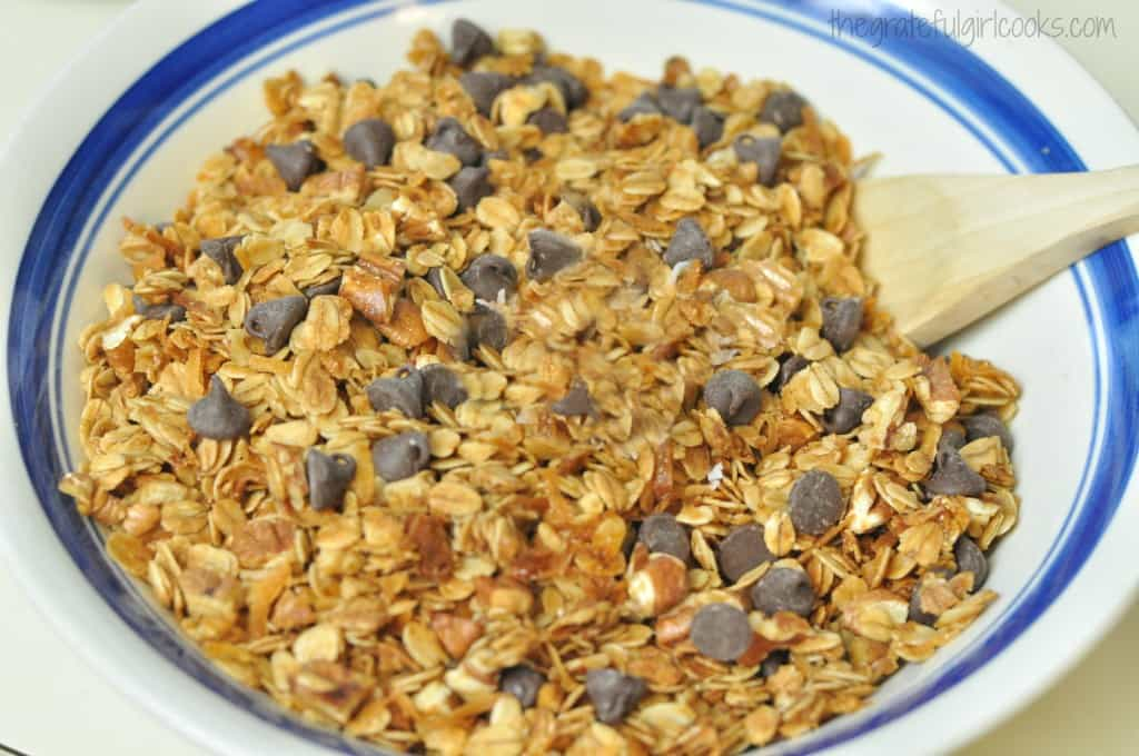 Coconut Pecan Chocolate Chip Granola / The Grateful Girl Cooks!