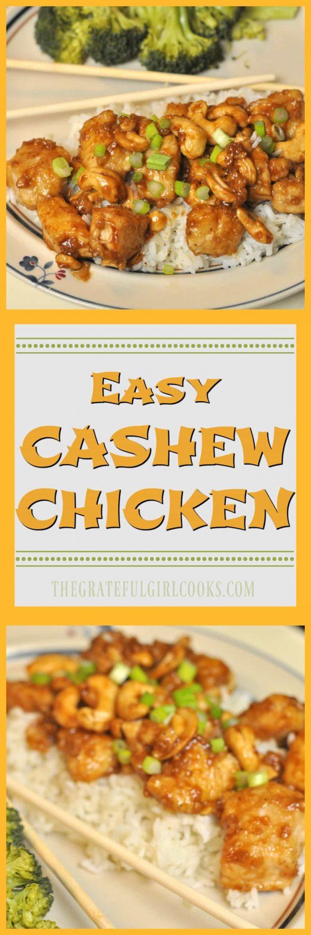 Easy Cashew Chicken / The Grateful Girl Cooks!