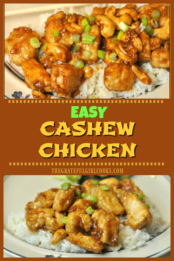 Your friends and family will love easy cashew chicken (a favorite Chinese dish) , that can be made in 20 minutes, for a fraction of the cost of takeout!