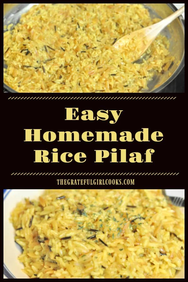 Homemade rice pilaf is delicious, and is a perfect side dish for beef, poultry, and seafood. Who needs a box mix when it can easily be made from scratch?