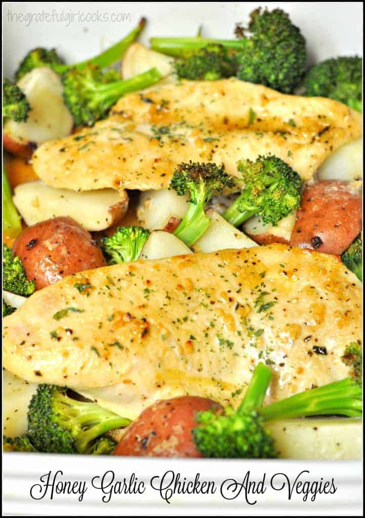 Honey Garlic Chicken And Veggies / The Grateful Girl Cooks!
