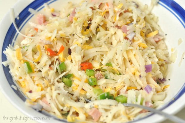 Loaded Hash Browns - Waffle Style / The Grateful Girl Cooks!