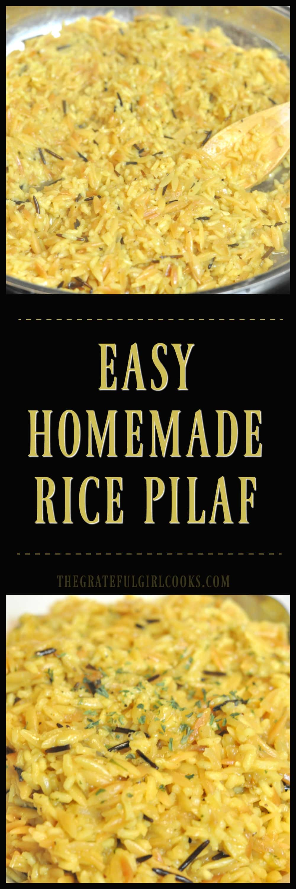 Easy Homemade Rice Pilaf / The Grateful Girl Cooks!
