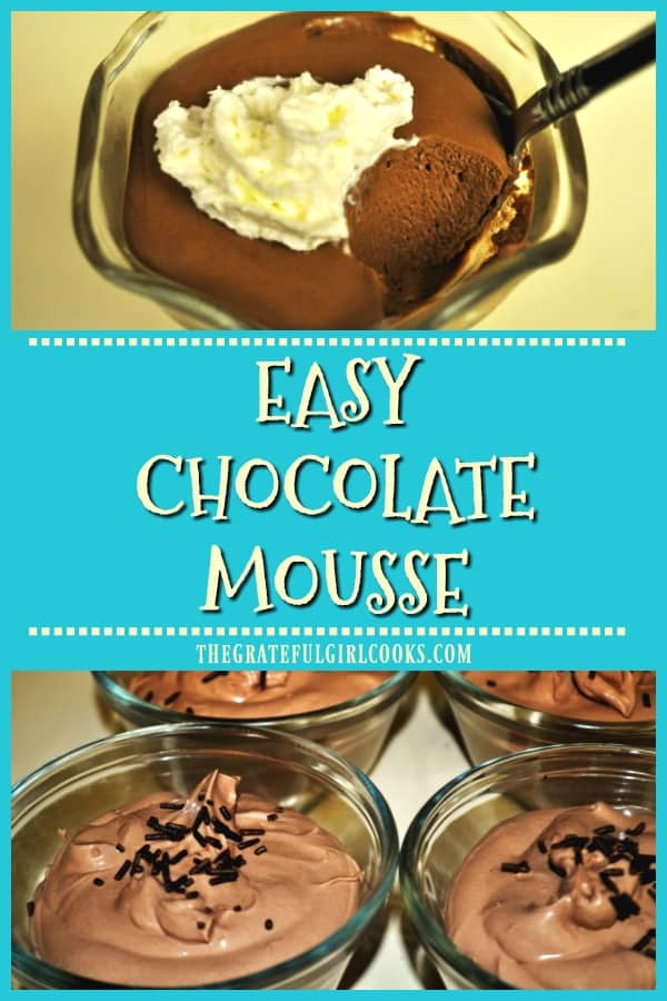 Make light and creamy, easy chocolate mousse in about 10 minutes! This yummy treat can be eaten as is, or added to cakes or puff pastry!