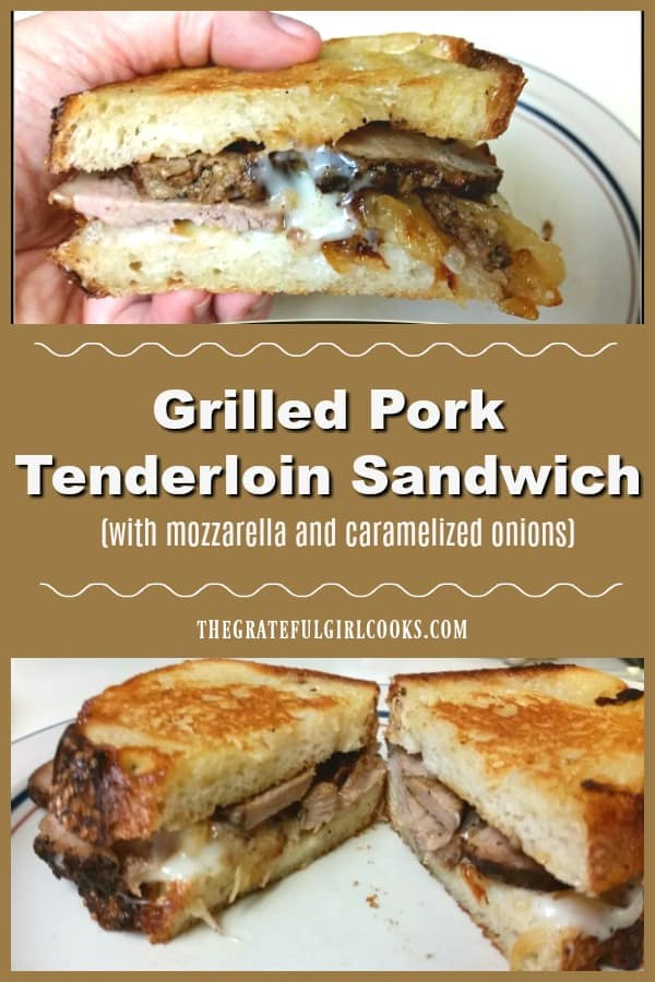 Have leftover pork roast and need a tip on how to use it up? Make a delicious grilled pork tenderloin sandwich with mozzarella and caramelized onions!