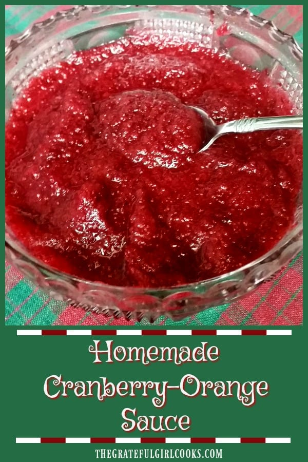 Four ingredients and a food processor are all you need to make delicious, fresh, homemade cranberry-orange sauce in just a few minutes!