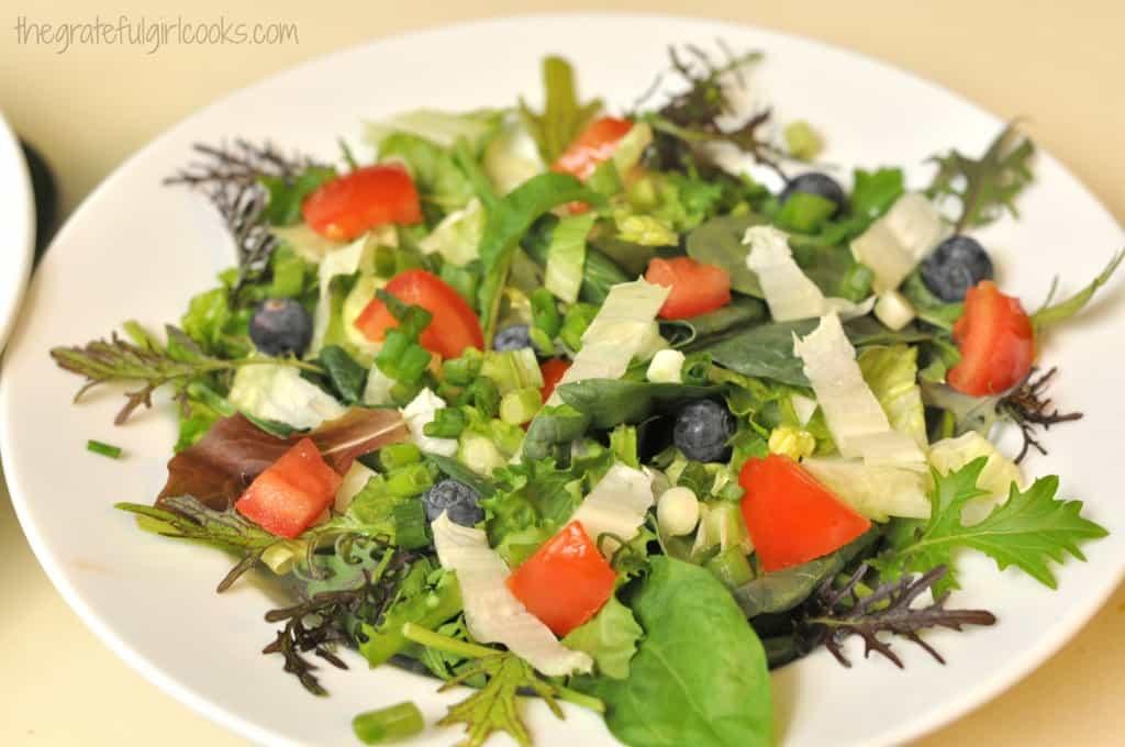 Mixed Salad with Hoisin Vinaigrette and Crisp Panko Chicken / The Grateful Girl Cooks!