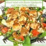 Mixed Salad with Hoisin Vinaigrette and Crisp Panko Chicken