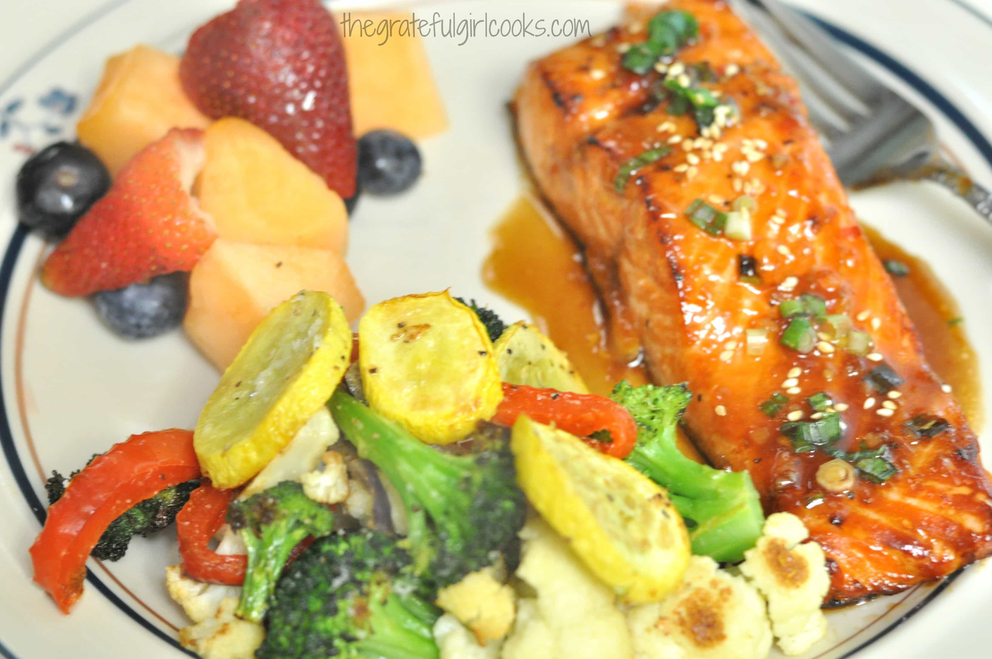 Sweet Ginger Teriyaki Salmon The Grateful Girl Cooks