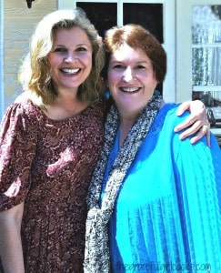 Two women (author of blog and friend, Edie)