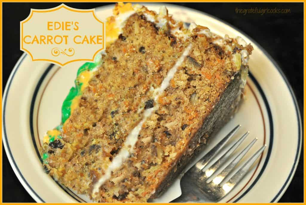 Edie's Carrot Cake / The Grateful Girl Cooks!