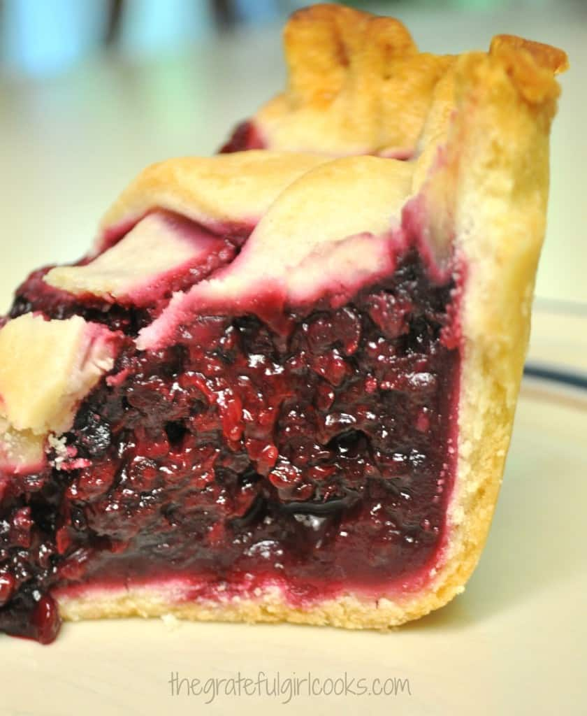 Deep Dish Boysenberry Pie / The Grateful Girl Cooks!