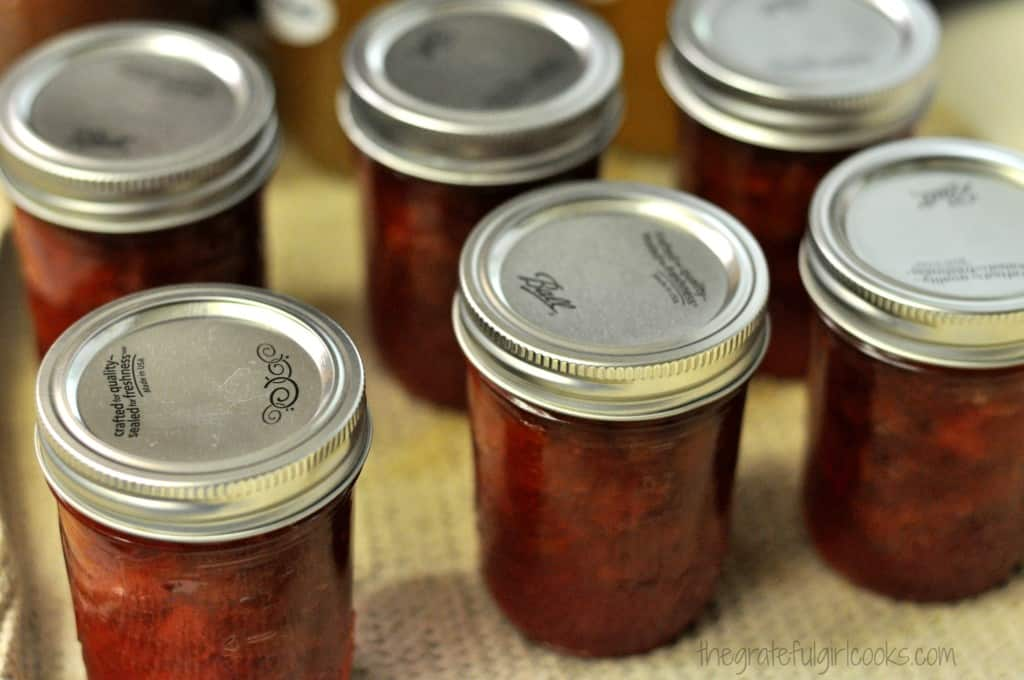 Rhubarb-Orange Jam / The Grateful Girl Cooks!