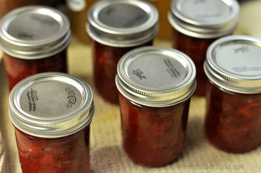 Rhubarb-Orange Jam / The Grateful Girl Cooks!