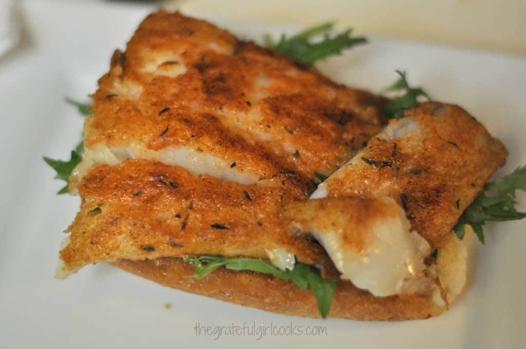 Spicy Fish Sandwich w/Chili Mayo / The Grateful Girl Cooks!