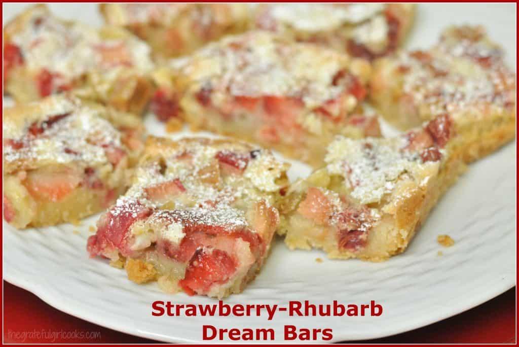 Strawberry-Rhubarb Dream Bars / The Grateful Girl Cooks!