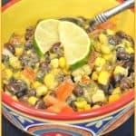 Black Bean, Corn & Tomato Salad with Avocado Dressing