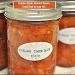 Italian-Style Tomato Sauce (and how to can it!)