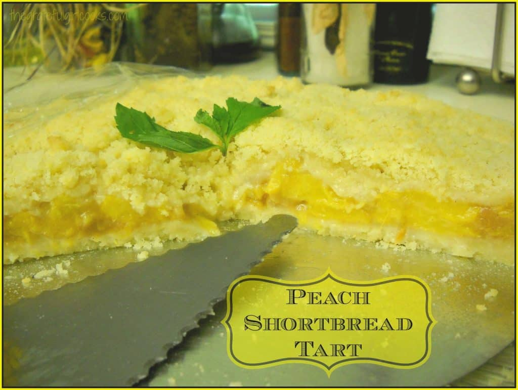 Peach Shortbread Tart / The Grateful Girl Cooks!