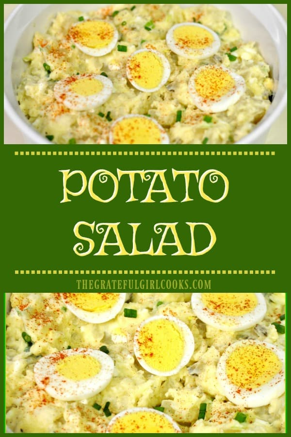 You're gonna love this simple, old-fashioned potato salad! It is easy to make, and will be a big hit at your next family BBQ or picnic!