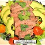Southwest Steak Salad w/ Avocado & Cilantro Dressing
