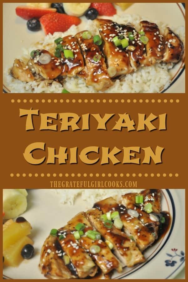Long pin for Teriyaki chicken