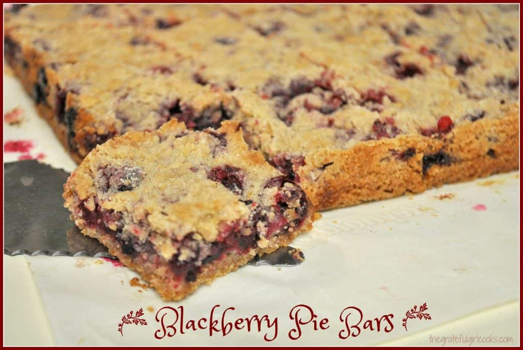 Blackberry Pie Bars / The Grateful Girl Cooks!