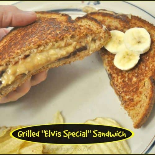Grilled Elvis Special Sandwich The Grateful Girl Cooks