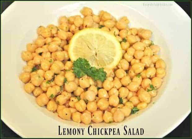 Lemony Chickpea Salad / The Grateful Girl Cooks!
