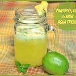 Pineapple, Lime & Mint Agua Fresca