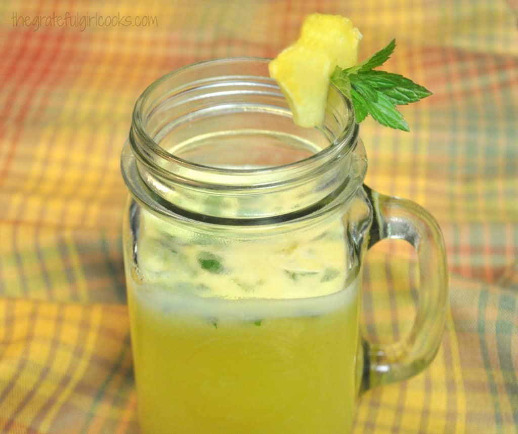 Pineapple, Lime & Mint Agua Fresca / The Grateful Girl Cooks!